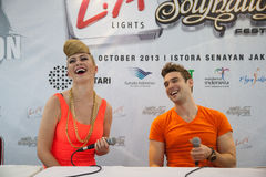 Karmin Press Conference Stock Images
