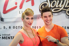 Karmin Press Conference Stock Photo