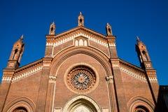 karminowy Del Maria Milan Santa obraz royalty free