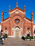 karminowy Kościół Del Maria Milan Santa Obraz Stock