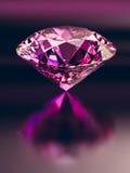 Karminrote Diamanten auf schwarzem Hintergrund Lizenzfreies Stockfoto