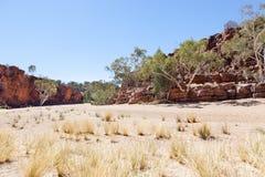Karminrote Schlucht Australien Stockbild