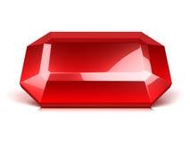 Karminroter Kristall getrennt stock abbildung