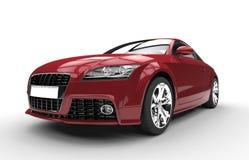 Karmosinröd röd snabb kraftig bil Royaltyfri Fotografi