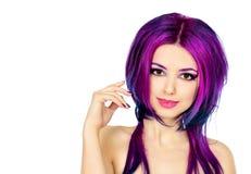 Karmosinrött hår Arkivbild