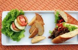 karmowa kanapka Zdjęcie Stock