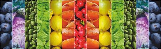 Karmowa owoc warzyw tęcza Zdjęcie Stock