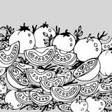 Karmowa pomidorowa jarska czerwona jarzynowa wektorowa świeżość ilustracji