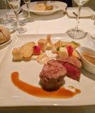 Karmowa restauracyjna mięsna krew Zdjęcia Stock