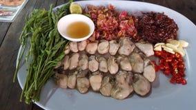 Karmowe chili warzyw ostrygi Zdjęcie Royalty Free