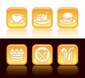 Karmowe ikony royalty ilustracja