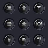 Karmowe ikony Zdjęcie Royalty Free