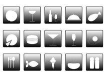 karmowe ikony Obrazy Stock