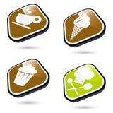 karmowe ikony Zdjęcie Stock