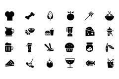 Karmowe Wektorowe ikony 5 ilustracja wektor