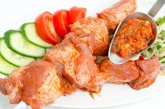 karmowego kebab przygotowany shish fotografia stock