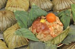 karmowego liść lotosowy ryż styl tajlandzki Obraz Stock