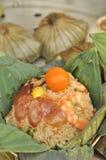 karmowego liść lotosowy ryż styl tajlandzki Zdjęcie Royalty Free