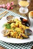 karmowego włoskiego odżywczego risotto owoce morza smakowity tradycyjny Zdjęcia Royalty Free