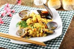 karmowego włoskiego odżywczego risotto owoce morza smakowity tradycyjny Obraz Royalty Free