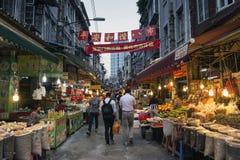 Karmowego zakupy targowa ulica w Xiamen miasta porcelanie Obraz Stock