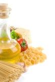 karmowego zdrowego odosobnionego makaronu surowy biel Obrazy Stock