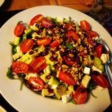 Karmowi śniadanio-lunch pomidory sałatkowi Zdjęcia Royalty Free