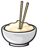 karmowi chińscy chopsticks Ilustracji
