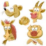 Karmowi zwierzęta ilustracji