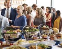 Karmowy śniadanio-lunch kawiarni catering zdjęcia royalty free