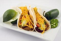 karmowy świeży meksykański taco Obraz Stock