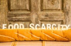 Karmowy braka słowo na baguette Zdjęcie Royalty Free