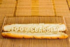 Karmowy braka słowo na baguette Obraz Stock
