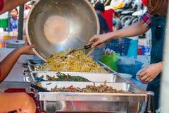Karmowy catering Uwalnia, Tajlandzki jedzenie Zdjęcia Stock