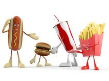 Karmowy charakter - fast food Obrazy Stock