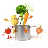 Karmowy charakter - warzywa Obrazy Stock