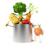 Karmowy charakter - warzywa royalty ilustracja
