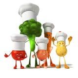 Karmowy charakter - warzywa ilustracji