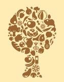 Karmowy drzewo royalty ilustracja