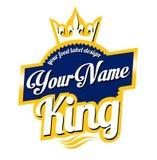 Karmowy etykietka logo Fotografia Royalty Free