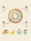 Karmowy Infographic element Obrazy Royalty Free