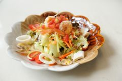 karmowy japoński sałatkowy owoce morza zdjęcia royalty free