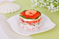 karmowy japoński sałatkowy owoce morza Obrazy Royalty Free