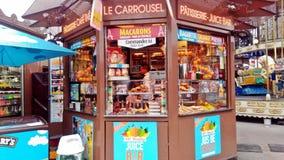 Karmowy kram w Paryż fotografia stock