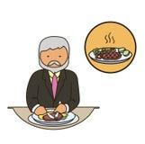Karmowy krytyka cateringu personel Restauraci drużyna royalty ilustracja