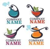 Karmowy logo Obrazy Royalty Free