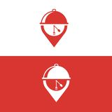 Karmowy logo Fotografia Royalty Free