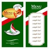karmowy menu Italy Ilustracji