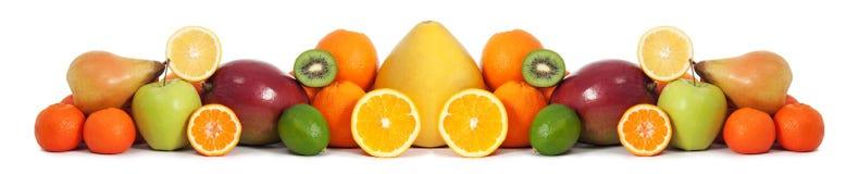 Karmowy owocowy sztandar Zdjęcia Royalty Free