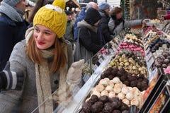 Karmowy pojęcie - cukierek, czekolada, cukierków bary, galareta Zdjęcie Stock